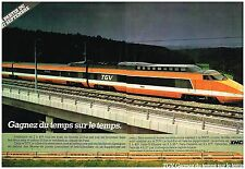 Publicité Advertising 1981 (2 pages ) TGV Sncf