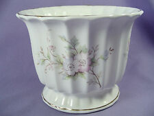 Vintage Coronet Staffordshire England Bone China Flower Pot Planter Vase Floral