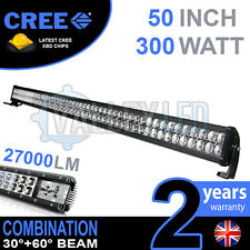 "50"" 300w Cree LED Light Bar Combo IP68 XBD Driving Light Alloy Off Road 4WD Boat"