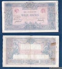1000 Francs Bleu et Rose Type 1889 – 29-11-1920 C.1453 Qualité TB +