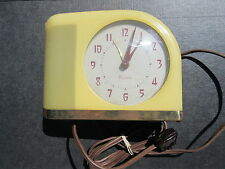 1930s Art Deco Moonbeam Westclox Electric Alarm Clock S5-J Celuloid WORKS