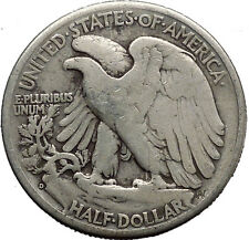 1945 WALKING LIBERTY Half Dollar Bald Eagle United States Silver Coin i45151