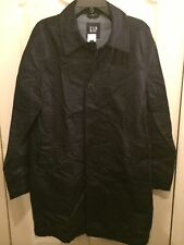 Gap Mens Size M, Classic Trench Coat , Button Front Navy Nwt $128