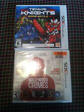 Nintendo 3Ds games Tenkai Knights, James Noirs Hollywood Crimes