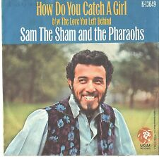SAM THE SHAM/PHAROHS--PICTURE SLEEVE + 45--(HOW DO U CATCH A GIRL)--PS--PIC--SLV