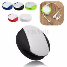Auto Silicone Headphone Earphone Cord Cable Wrap Winder Wire Holder Organizer