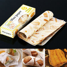 50 pcs Sandwich Cookie Cake Waxed Paper Greaseproof Wrap Gift Packaging