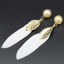 Fashion Angel Wing Feather Dangle Earring Women Drop Alloy Earrings 2016