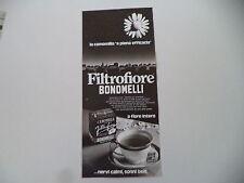 advertising Pubblicità 1976 CAMOMILLA FILTROFIORE BONOMELLI