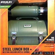 Stanley Classic Series Combo Set : Steel 9.4L Lunch Box + 750ml Bottle Flask |G