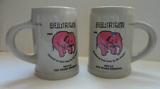 இ Bière Beer Delirium Tremens MUG / CHOPE 33cl CERAMIQUE ELEPHANT ROSE இ