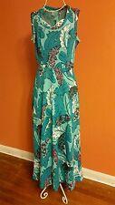 Women's VINTAGE 60's/70's Feather Print Dress - Size S/M - EUC!