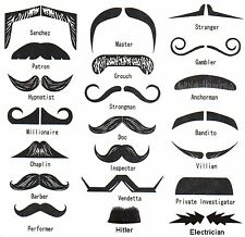 Temporary Tattoo Finger Moustache,21 of,Fingerstache,Fancy Dress Hen Stag Party