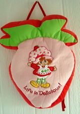 strawberry shortcake bag backpack plush purse soft girls toy pink red green tote