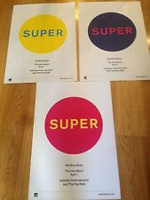 PET SHOP BOYS - SUPER SET OF 3 RARE ORIGINAL PROMO PRINTS POSTERS MINT