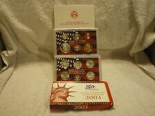 2003 United States Mint Silver Proof Set Original with Box & COA 10 Coin Set