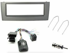 KIT PANEL FIAT GRANDE PUNTO GRAY WITH COMMANDS STEERING WHEEL E ANTENNA ADAPTER