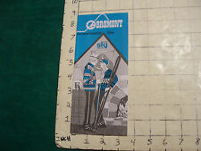 Vintage High Grade SKI Brochure: ski BROMONT accommodation gite 1970's