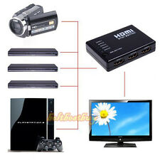 5 PORT HDMI Switch Switcher Selector Splitter Hub Box Remote 1080p FOR HDTV PS3