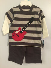 New Boys 6mos 2pc Guitar Set: 2pc Look Guitar Shirt & Pants by Carter's #i