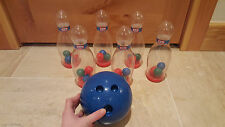 LITTLE TIKES Bowling Game Set of 6 Clear Pins & 1 blue plastic bowling ball