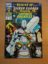MARVEL: WHAT IF? #49, SILVER SURFER POSSESSED INFINITY GAUNTLET, HIGH GRADE!!!