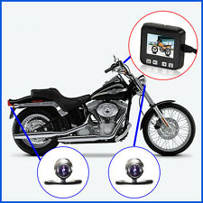 Motorcycle Mounted Biker Action Video Camera SYKIK C6 Front and Back With Screen