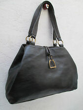 -AUTHENTIQUE sac à main type cabas RALPH  LAUREN  cuir   TBEG vintage bag A4