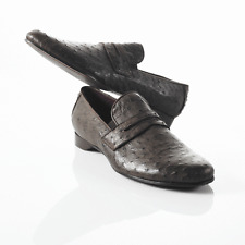 MOCASSINO PENNY LOAFER COLLEGE IN STRUZZO TAILORED REALIZZATO A MANO IN ITALIA