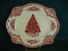 "Johnson Brothers Old Britain Castles Pink Cristmas Tree 11 5/8"" Serving Platter"