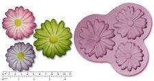 DAISY DAISIES x 3 Large Craft Sugarcraft Chocolate Soap Silicone Rubber Mould