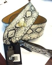 "ERNIE BALL SOLD @ GUITAR CENTER MUSIC MAN 2"" GUITAR STRAP GREY GRAY PYTHON PRINT"