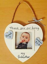 Christening gift godparent godmother godfather picture frame