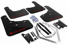 Rally Armor UR Black Mud Flap w/ Red Logo For 2013+ Ford Fiesta ST Hatchback