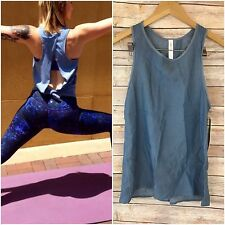 ❤NWT Lululemon All Tied Up Tank TENCEL Blue Denim Top Yoga Speed Run 4 Xs Small