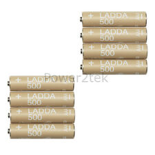 8 x IKEA LADDA AAA Rechargeable 1.2V HR03 NiMH 500 mAh Batteries NEW