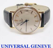 Vintage 14K UNIVERSAL GENEVE Mens Polerouter AUTOMATIC Watch EXLNT* SERVICED