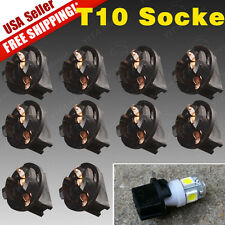 10 PCS Twist Lock T10 168 194 Wedge instrument Panel Dash Light Bulb Base Socket