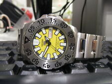 SEIKO5 MONSTER DIVER YELLOW DIAL DIVER AUTOMATIC MINI MONSTER MEN S WATCH