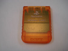 Sony Playstation 1 candy orange carte mémoire PS1