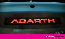 FIAT 500 ABARTH LOGO 3rd BRAKE LIGHT DECAL STICKER GRAPHIC x 1 IN BLACK VINYL