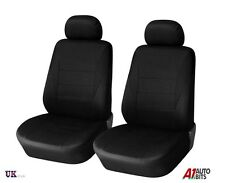 BLACK FABRIC FRONT 1+1 SEAT COVERS FOR FORD FIESTA FOCUS MONDEO MPV S-MAX C-MAX