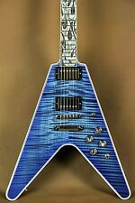 Gibson Flamethrower Flying V Ultima Indigo Blue Electric Guitar
