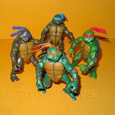 2002 TEENAGE MUTANT NINJA TURTLES (TMNT) LOT 4 ACTION FIGURES DON LEO MIKE RAPH