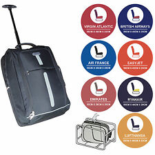 LIGHT ROLLER TROLLEY HAND LUGGAGE SUITCASE BAG CABIN HOLDALL RYANAIR EASYJET