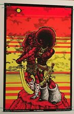 The Conquerors Houston Blacklight Vintage Poster Psychedelic 1969 Original Goode