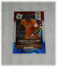 2014 Panini Prizm World Cup Red Blue Plaid Stars Didier Drogba - Ivory Coast #11