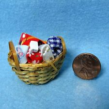Dollhouse Miniature Laundry Clothes Basket ~ IM65222
