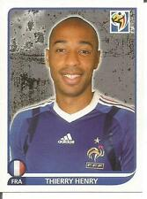 """PANINI 2010 WORLD CUP STICKER """"FRANCE - THIERRY HENRY"""" #103"""