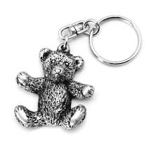 Teddy Bear keyring Key-ring (keychain) in Fine English Pewter, Handmade, (h)